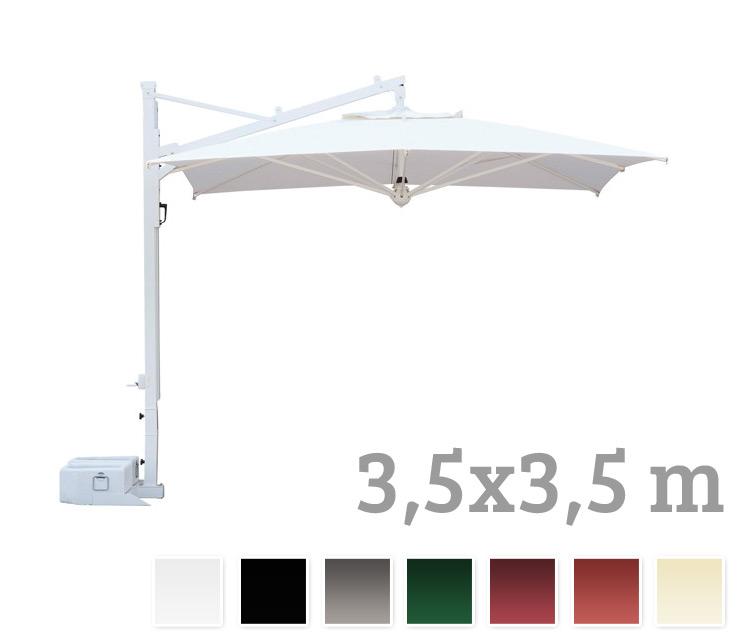 sonnenschirm scolaro galileo white 3 5x3 5 ampelschirm alu hanging parasol vom sonnenschirm. Black Bedroom Furniture Sets. Home Design Ideas