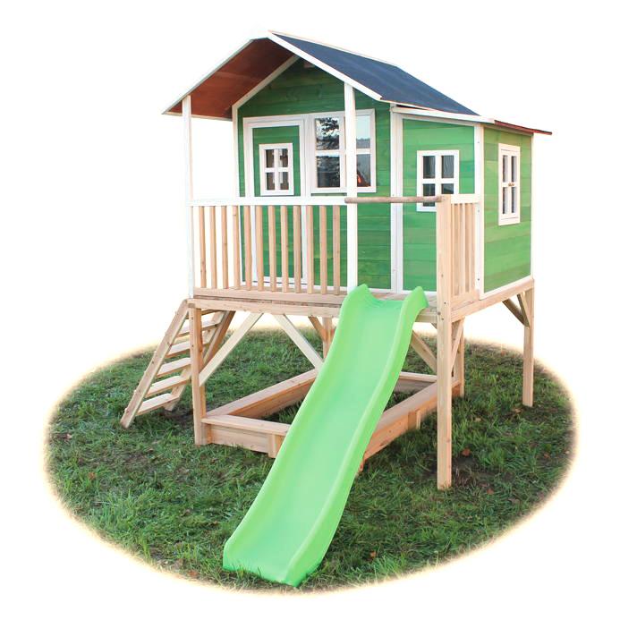 Holz Kinder Spielhaus Stelzen Kinderspielhaus Stelzenhaus Grun
