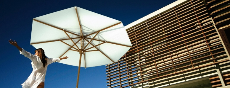 scolaro runder sonnenschirm vom sonnenschirm fachh ndler. Black Bedroom Furniture Sets. Home Design Ideas