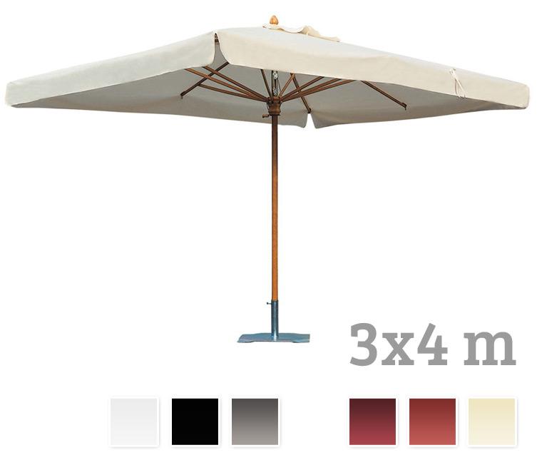 sonnenschirm scolaro palladio standard 3x4 stockschirm holzschirm parasol vom sonnenschirm. Black Bedroom Furniture Sets. Home Design Ideas