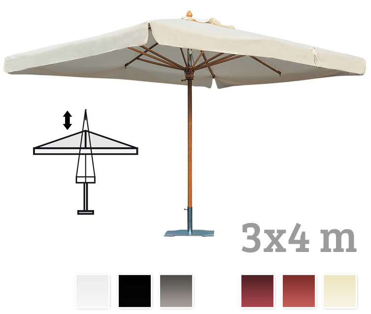 sonnenschirm scolaro palladio telescopic 3x4 stockschirm holzschirm parasol online shop. Black Bedroom Furniture Sets. Home Design Ideas
