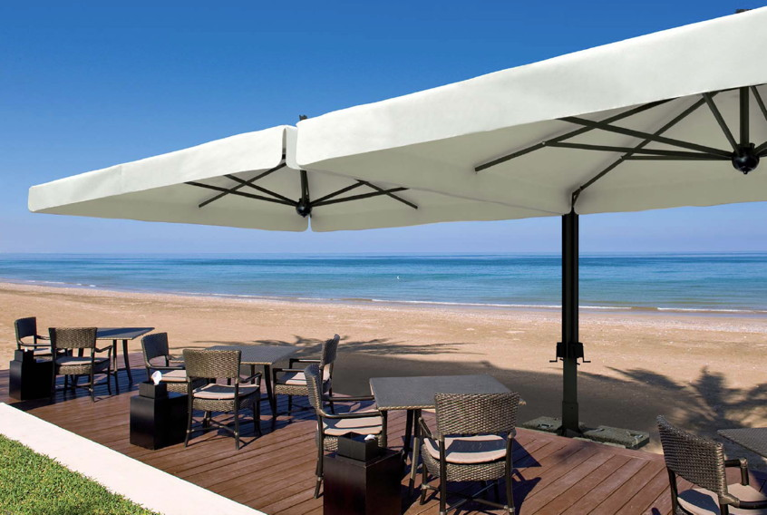sonnenschirm scolaro alu double3 5x7 stockschirm aluminiumschirm parasol online shop. Black Bedroom Furniture Sets. Home Design Ideas