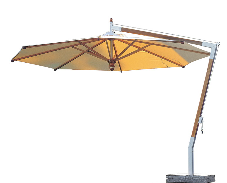 sonnenschirm fischer woodline 400 cm rund wood edition hanging parasol online shop g nstig. Black Bedroom Furniture Sets. Home Design Ideas