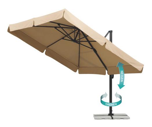 sonnenschirm rechteckig balkon balkon sonnenschirm With französischer balkon mit ampel sonnenschirm schneider