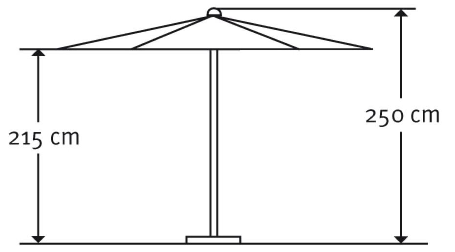 sonnenschirm schneider korsika 320cm stockschirm online shop g nstig angebot. Black Bedroom Furniture Sets. Home Design Ideas