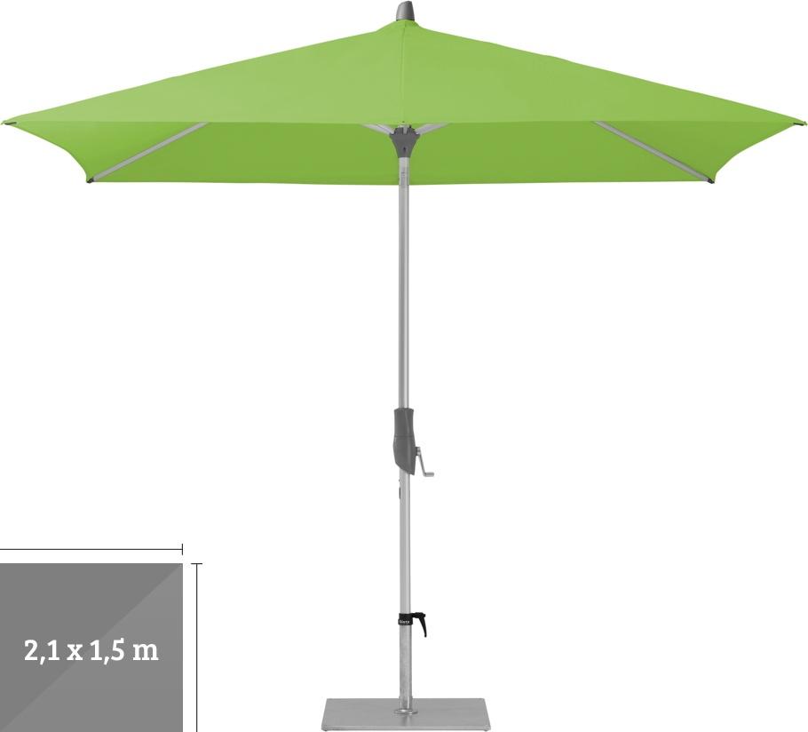 sonnenschirm glatz stockschirm alu twist easy 210x150cm apfel sonnenschutz vom sonnenschirm. Black Bedroom Furniture Sets. Home Design Ideas