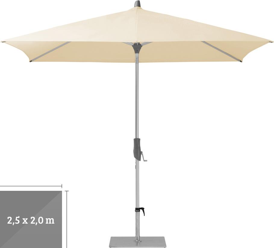 sonnenschirm glatz stockschirm alu twist easy 250x200cm beige sonnenschutz vom sonnenschirm. Black Bedroom Furniture Sets. Home Design Ideas