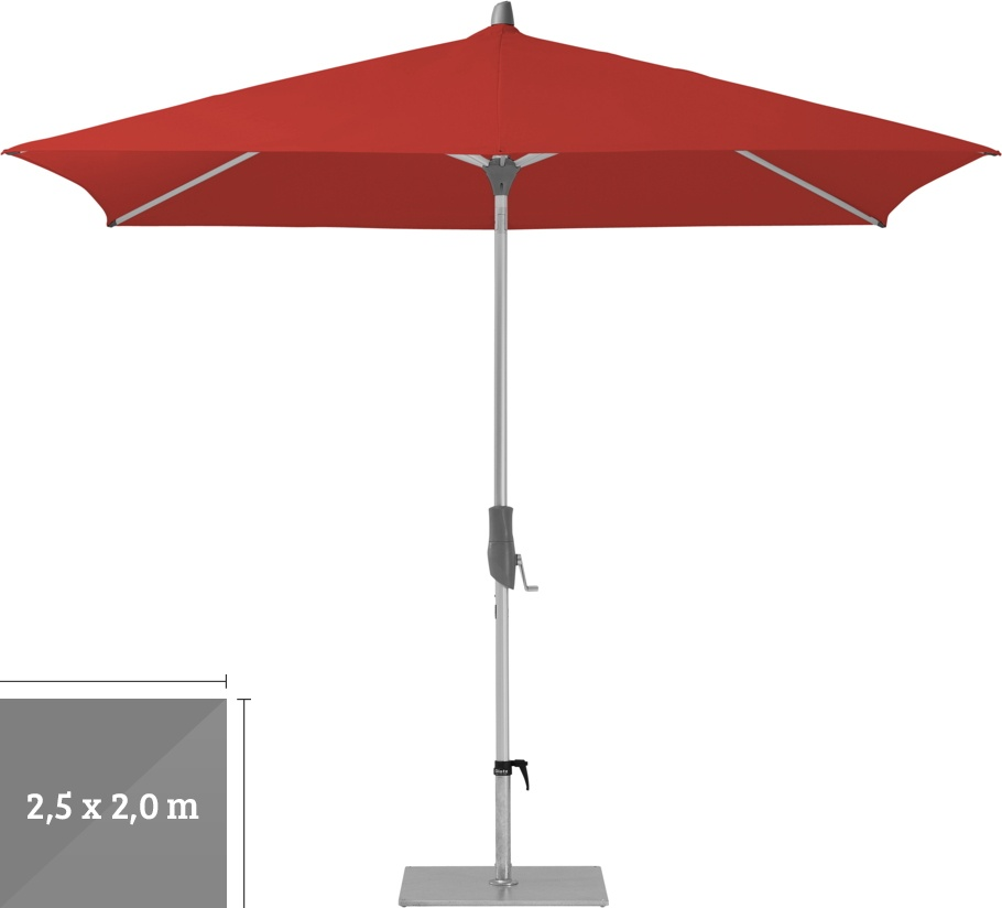 sonnenschirm glatz stockschirm alu twist 250x200cm carmine sonnenschutz vom sonnenschirm. Black Bedroom Furniture Sets. Home Design Ideas