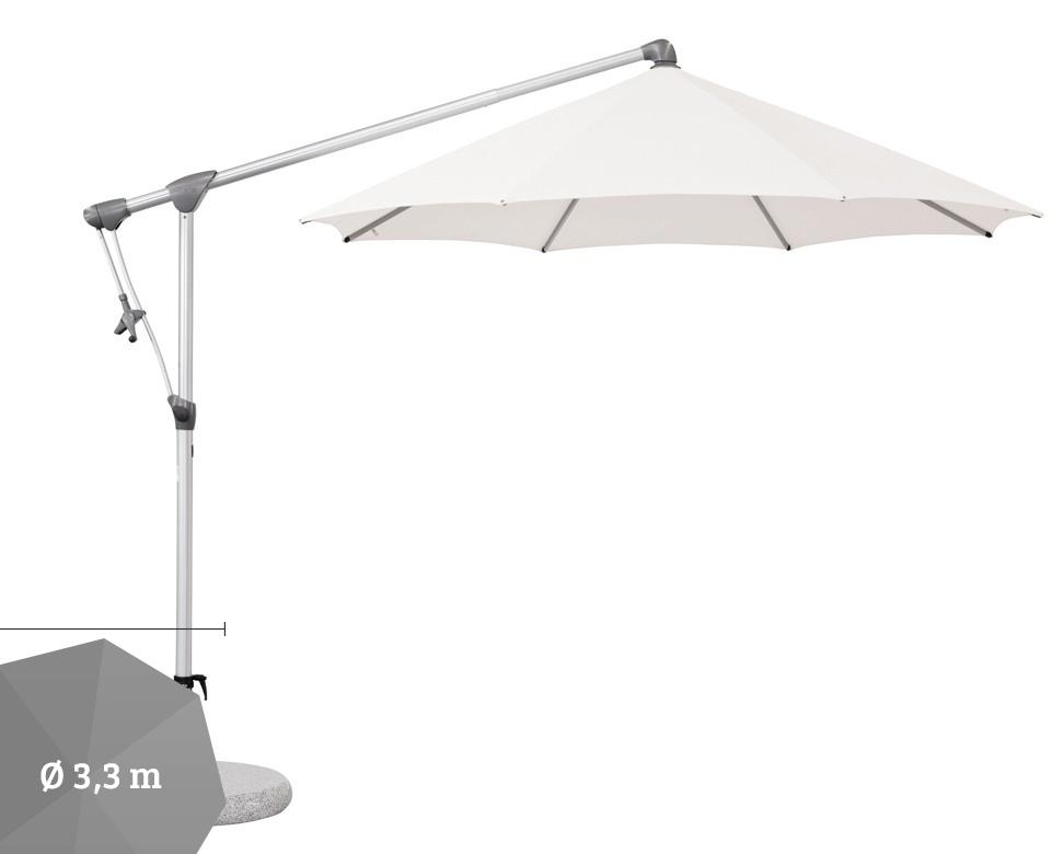 ampelschirm glatz sonnenschirm sunwing c 330 cm stone metal grau t ne vom. Black Bedroom Furniture Sets. Home Design Ideas