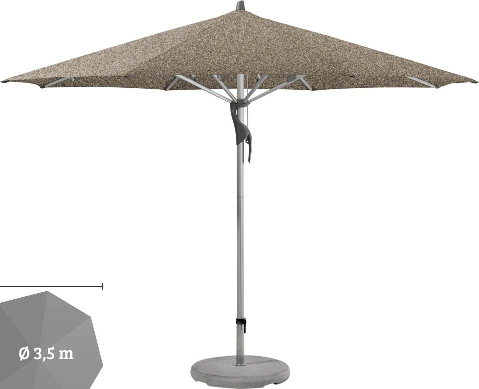 sonnenschirm glatz stockschirm fortero rund 350cm taupe sonnenschutz vom sonnenschirm. Black Bedroom Furniture Sets. Home Design Ideas