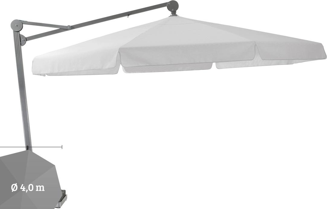 ampelschirm glatz sonnenschirm ambiente 400 cm white sonnenschutz vom sonnenschirm fachh ndler. Black Bedroom Furniture Sets. Home Design Ideas