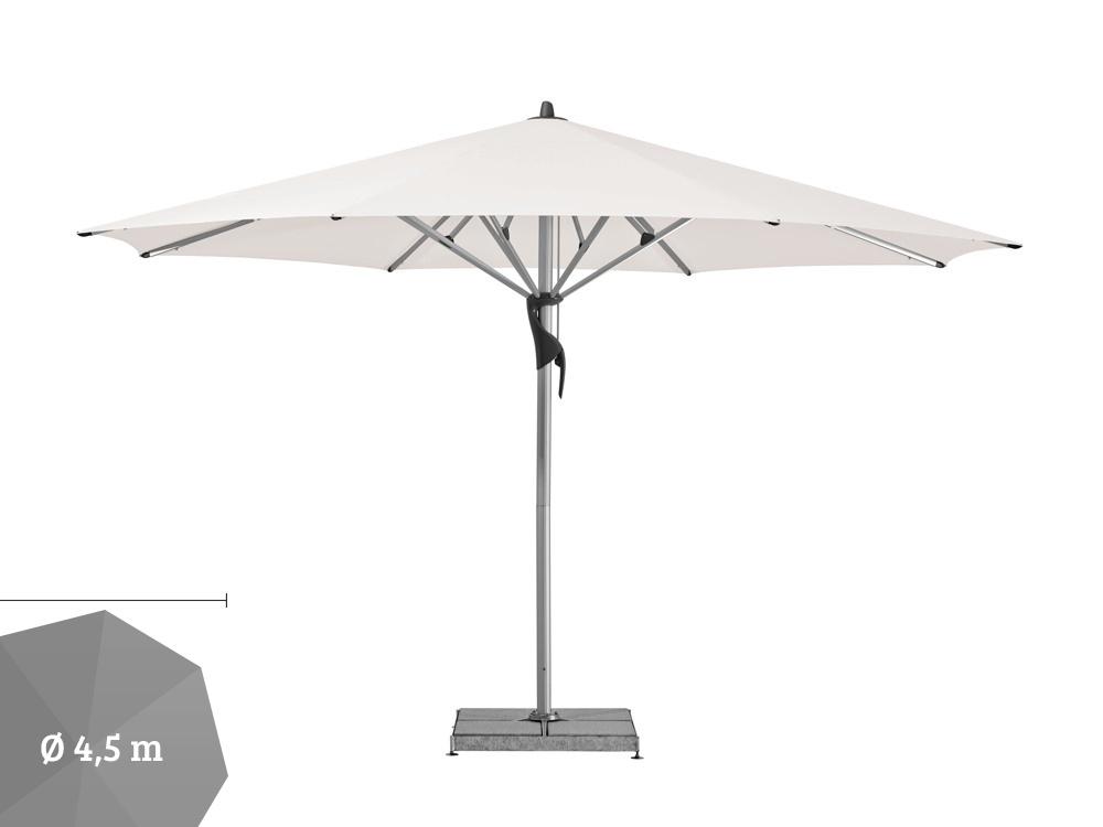 sonnenschirm glatz stockschirm fortello rund 450cm white sonnenschutz vom sonnenschirm. Black Bedroom Furniture Sets. Home Design Ideas