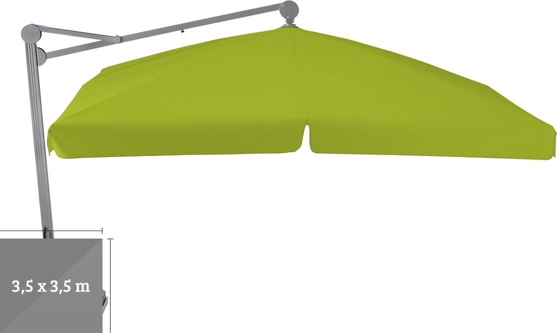 ampelschirm glatz sonnenschirm ambiente 350x350cm kiwi sonnenschutz vom sonnenschirm. Black Bedroom Furniture Sets. Home Design Ideas