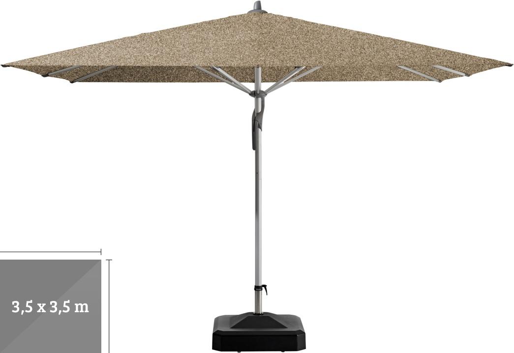 sonnenschirm glatz stockschirm fortero 350x350cm cinneman sonnenschutz vom sonnenschirm. Black Bedroom Furniture Sets. Home Design Ideas