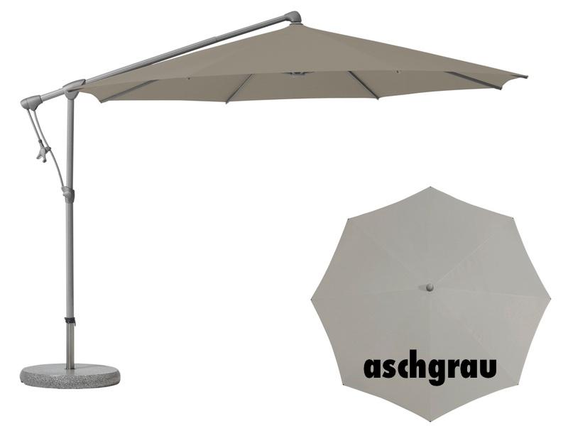 ampelschirm glatz sonnenschirm sunwing c easy rund aschgrau sonnenschutz online shop. Black Bedroom Furniture Sets. Home Design Ideas