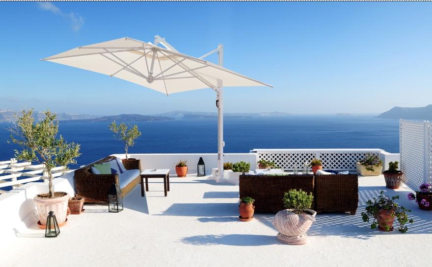 sonnenschirm scolaro galileo white 3x4 ampelschirm. Black Bedroom Furniture Sets. Home Design Ideas