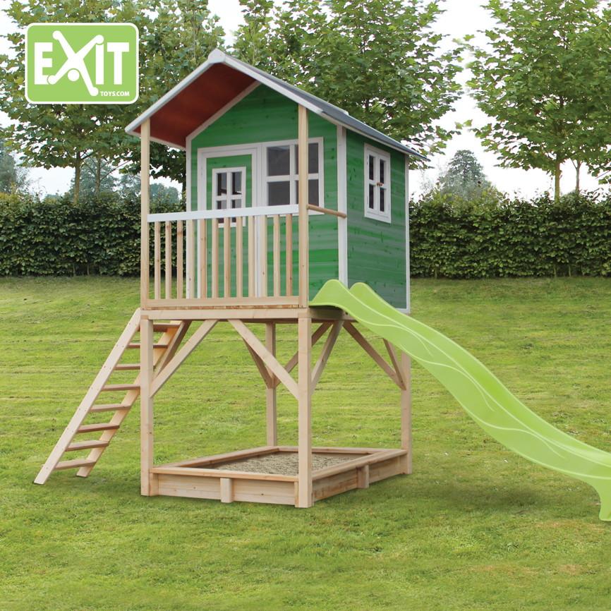 Stelzenhaus Bausatz Brast Spielhaus Fr Kinder Mit Balkon Xxcm