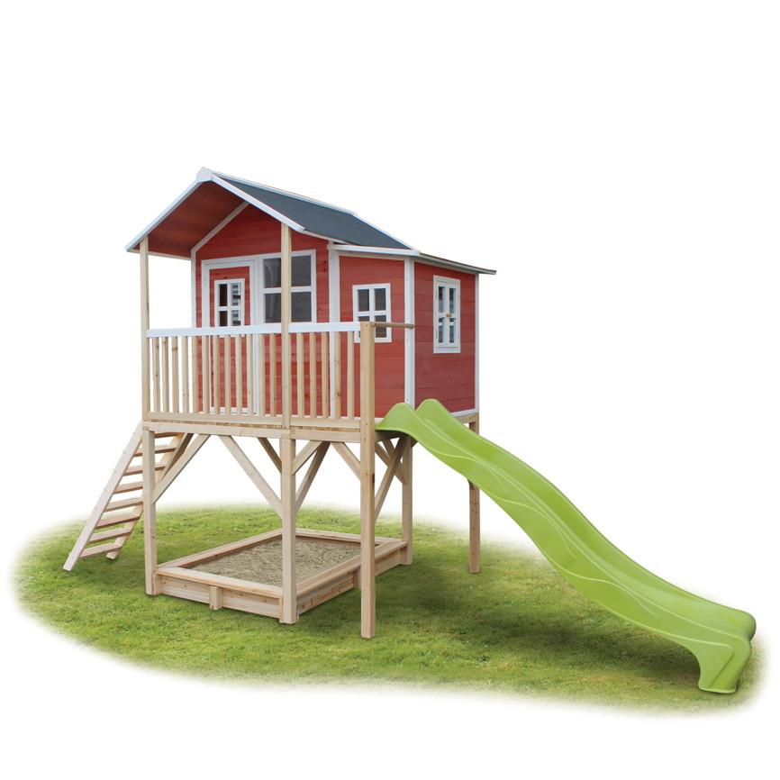 Holz Kinder Spielhaus Stelzen Kinderspielhaus Stelzenhaus Rot