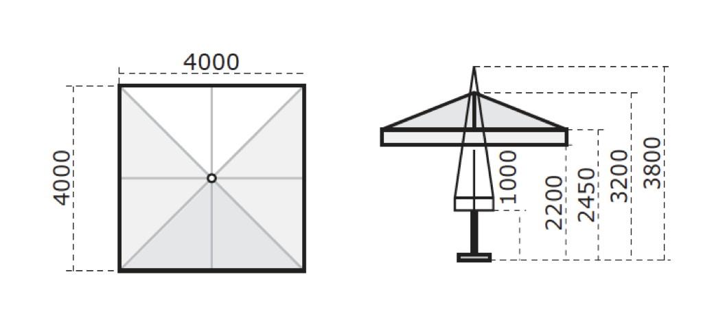 sonnenschirm scolaro leonardo telescopic 4x4 stockschirm. Black Bedroom Furniture Sets. Home Design Ideas