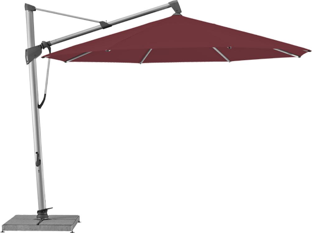 ampelschirm glatz sonnenschirm sombrano s o 350cm wine With französischer balkon mit bodenhülse sonnenschirm einbetonieren