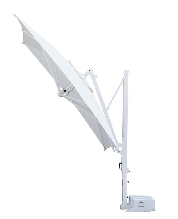 sonnenschirm scolaro galileo inox 3 5x3 5 ampelschirm alu hanging parasol vom sonnenschirm. Black Bedroom Furniture Sets. Home Design Ideas