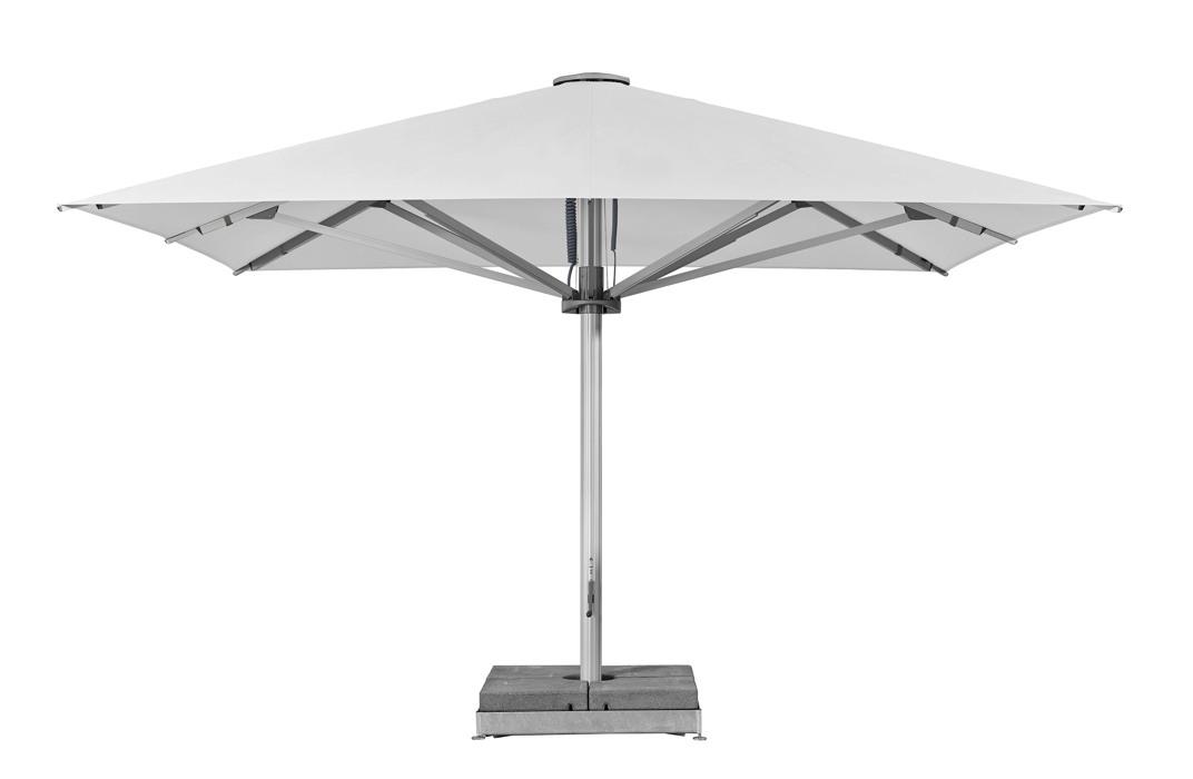 sonnenschirm glatz stockschirm palazzo style quadratisch 450x450cm white vom sonnenschirm. Black Bedroom Furniture Sets. Home Design Ideas