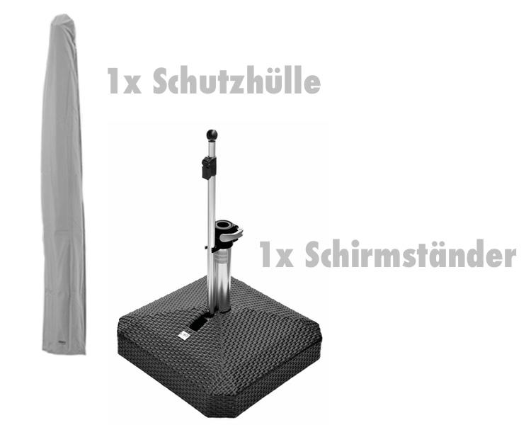 zubeh rset f r sonnenschirm alu smart schutzh lle. Black Bedroom Furniture Sets. Home Design Ideas
