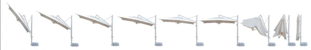 sonnenschirm scolaro galileo inox 3x3 ampelschirm. Black Bedroom Furniture Sets. Home Design Ideas