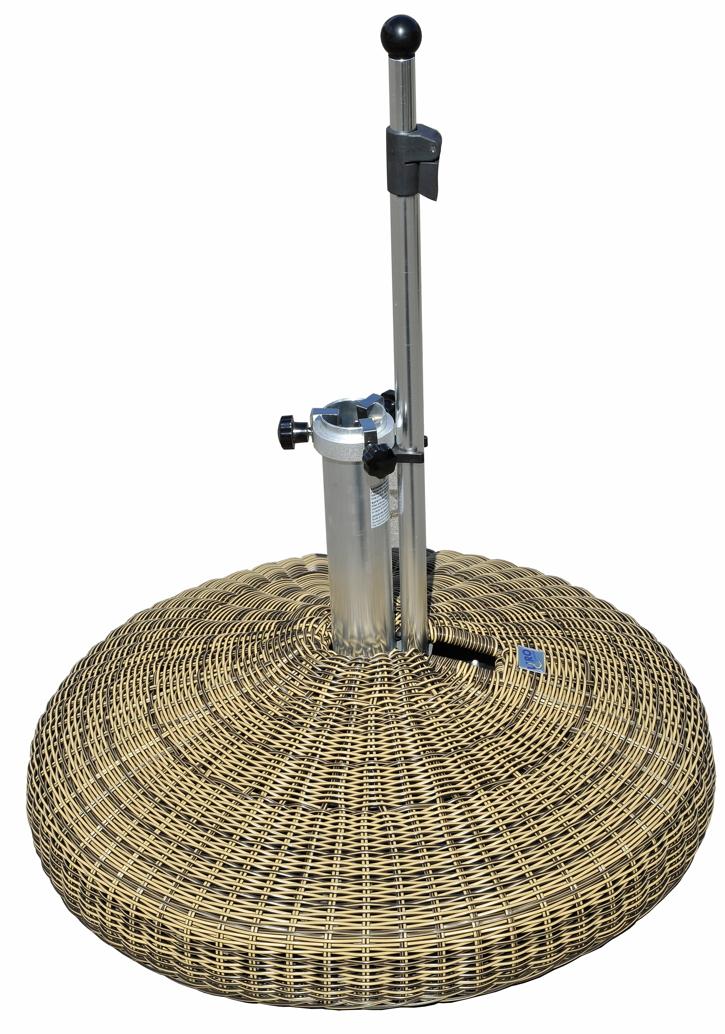 schirmst nder liro midi 60s rattan rollen leichtes bewegen parasol base vom sonnenschirm. Black Bedroom Furniture Sets. Home Design Ideas