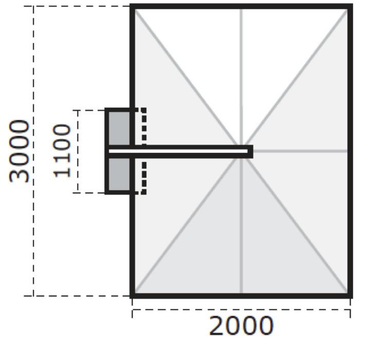sonnenschirm rechteckig 3 x 2 m