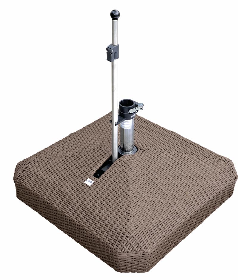 sonnenschirmst nder liro midi plus 100k rattan braun schnellspannung vom sonnenschirm. Black Bedroom Furniture Sets. Home Design Ideas